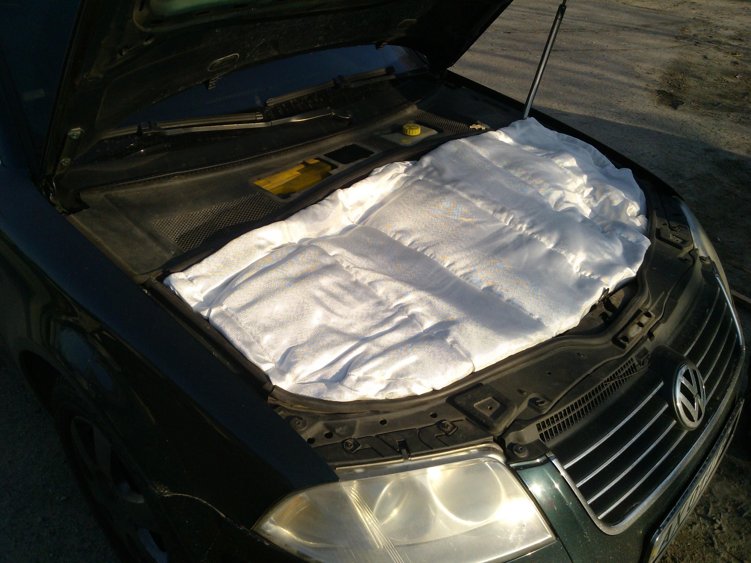 Утеплить двигатель автомобиля своими руками